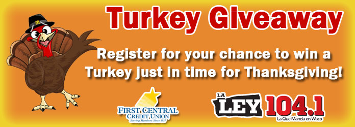Your chance to win a FREE Turkey!